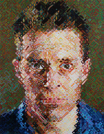 Chuck Close & Button Pattern American Hooked